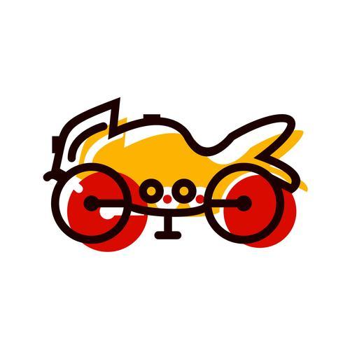 Diseño de icono de bicicleta pesada