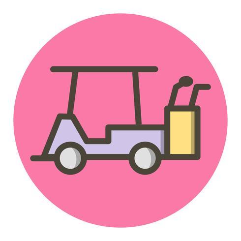 Conception d'icône de voiturette de golf