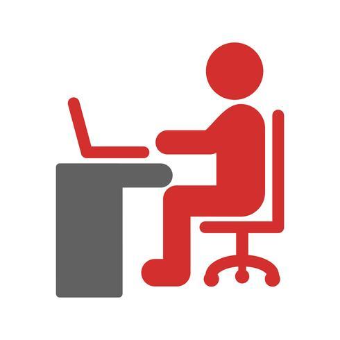 Using Laptop Icon Design vector