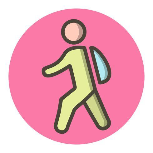 Marcher à l'école icône Design