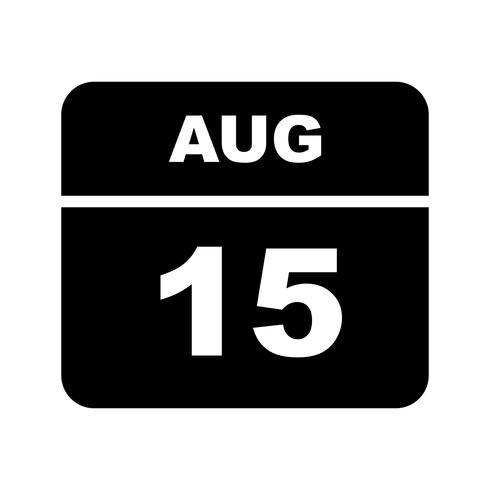 15 août Calendrier d'une journée