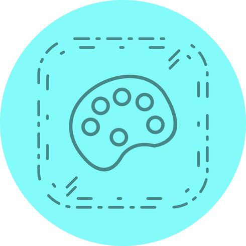 Kleur Pallete pictogram ontwerp