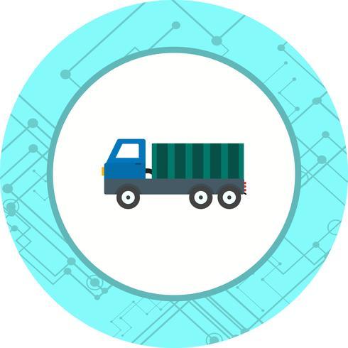 disegno dell'icona di dumper vettore