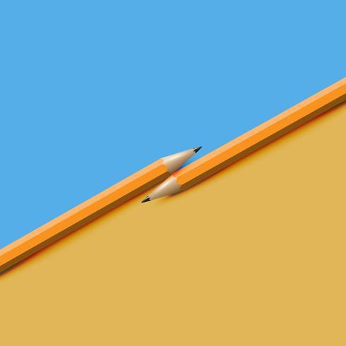 Hoog gedetailleerde kleurrijke achtergrond met potloden, vectorillustratie vector