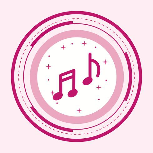 Design de ícone de música