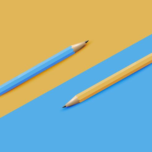 High detailed colorful  background with pencils, vector illustration