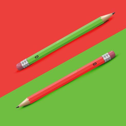 Alto fondo colorido detallado con lápices, ilustración vectorial vector