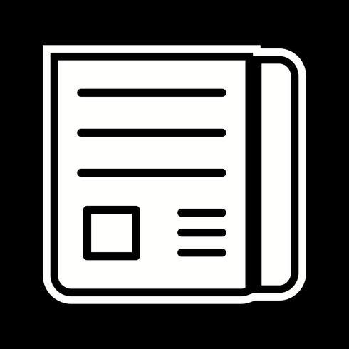 Nieuws papier pictogram ontwerp