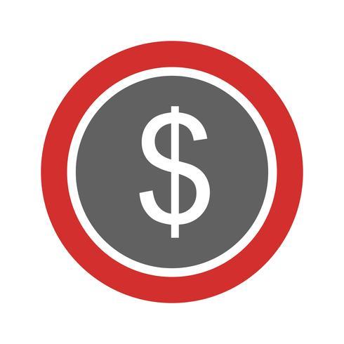 Dólares de monedas icono de diseño