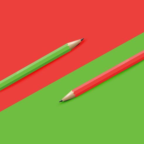Fundo colorido altamente detalhado com lápis, ilustração vetorial