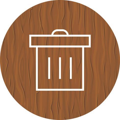 Prullenbak pictogram ontwerp