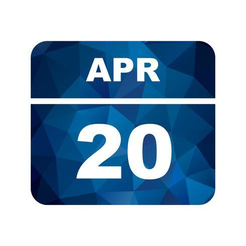 20 avril Calendrier d'une journée