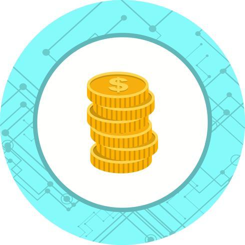 Disegno dell'icona di monete