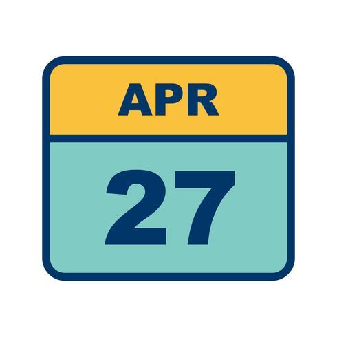 27 april Datum op een eendaagse kalender