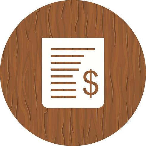 Receipt Icon Design vector