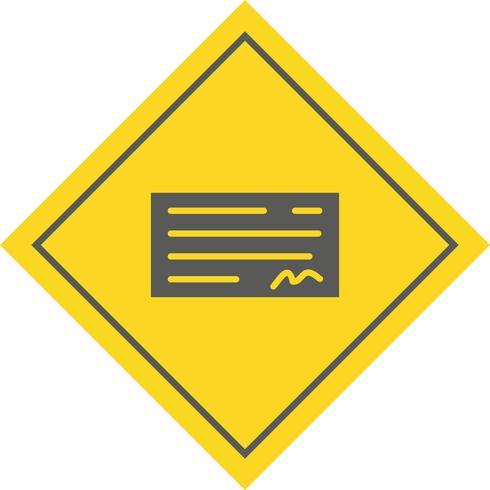 Cheque Icon Design vector