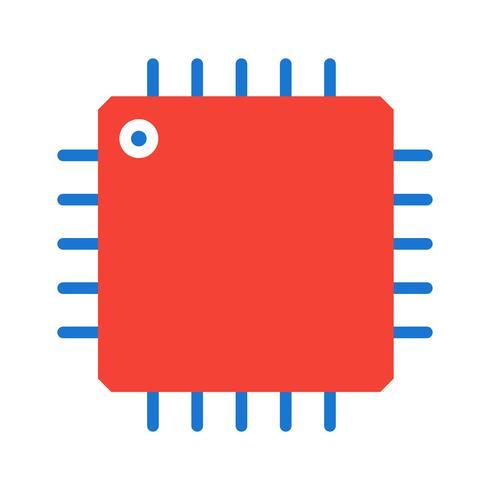 Procesador icono de diseño vector
