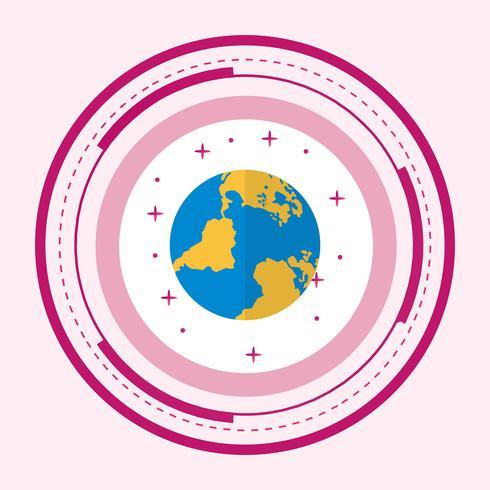 Globe Icon Design vecteur