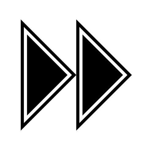Disegno dell'icona di frecce in avanti