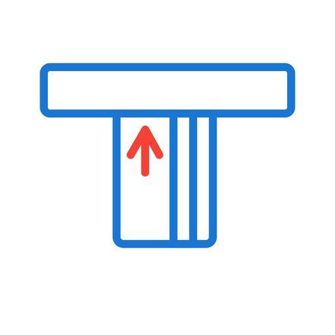Diseño de icono de cajero automático