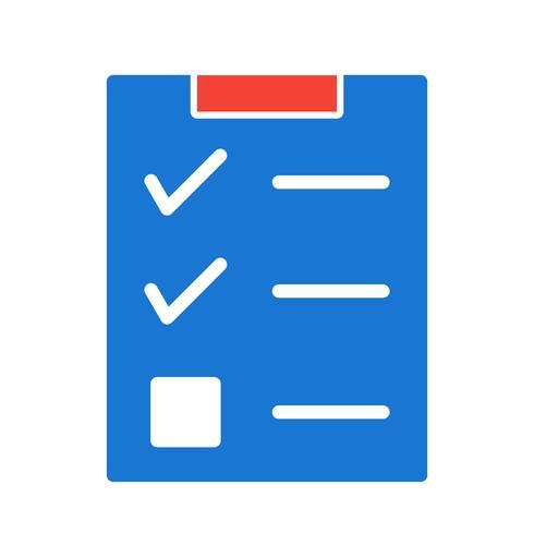 Checklist Icon Design vector