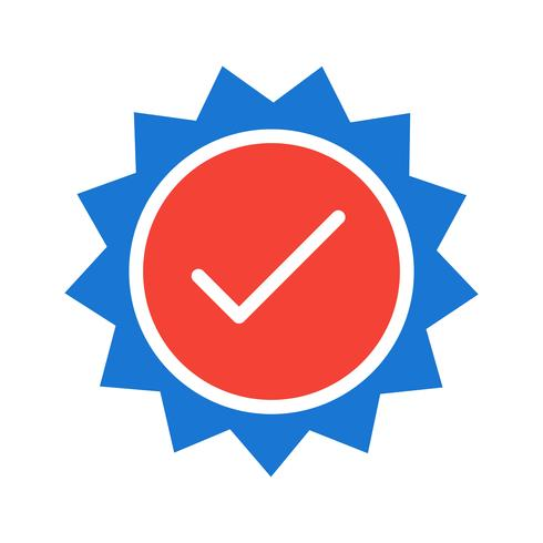 Gültiges Stempel-Icon-Design