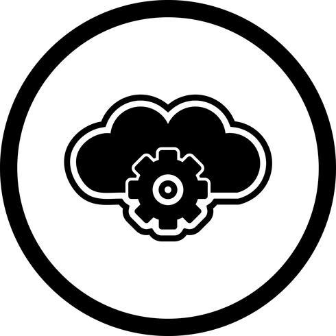 Configuración de iconos en la nube vector