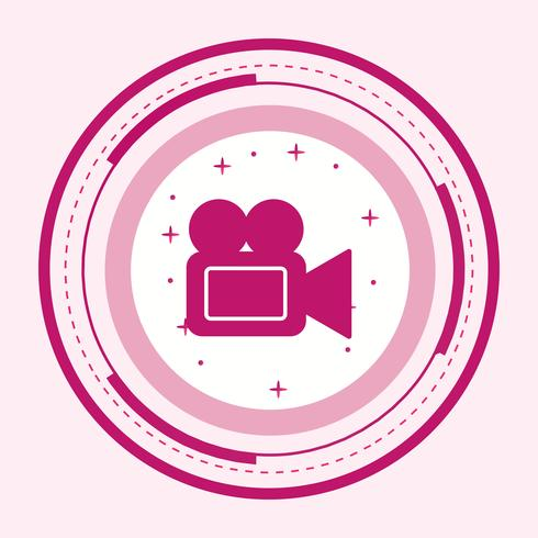 Video Camera Icon Design vector