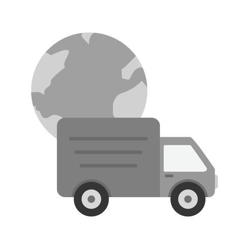 Wereldwijde levering pictogram ontwerp
