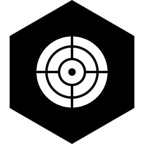 Diseño de icono de destino vector