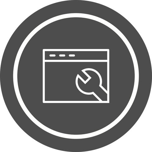 Browser Settings Icon Design vector