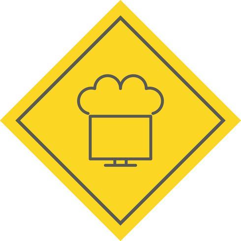 Connecté au Cloud Icon Design