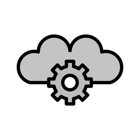 moln inställning ikon design