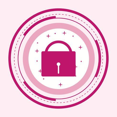 Diseño de iconos de seguridad vector