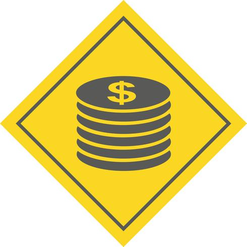 Munten pictogram ontwerp
