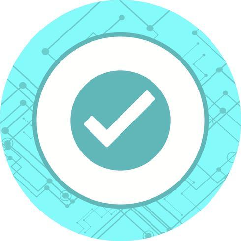 Diseño de icono válido vector