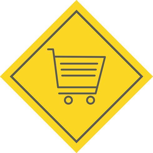 disegno dell'icona del carrello