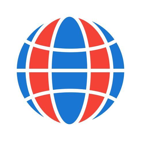 Globe pictogram ontwerp