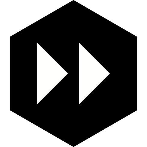 Design de ícone de setas para a frente
