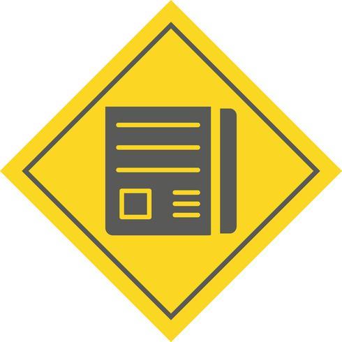 Disegno dell'icona di carta di notizie