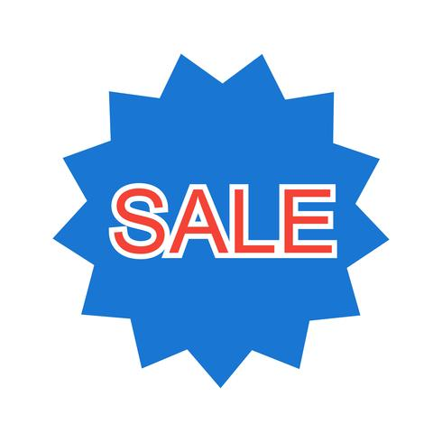 Design de ícone de venda vetor