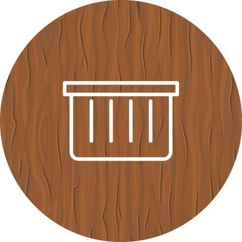 Design de ícone de cesta vetor