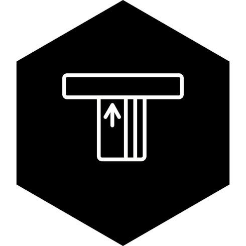 ATM-pictogramontwerp vector