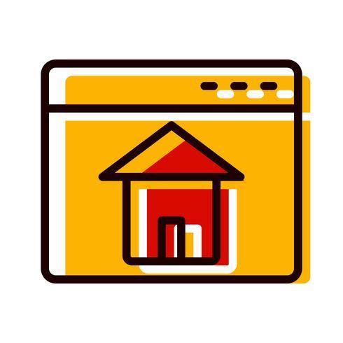 disegno dell'icona di homepage vettore