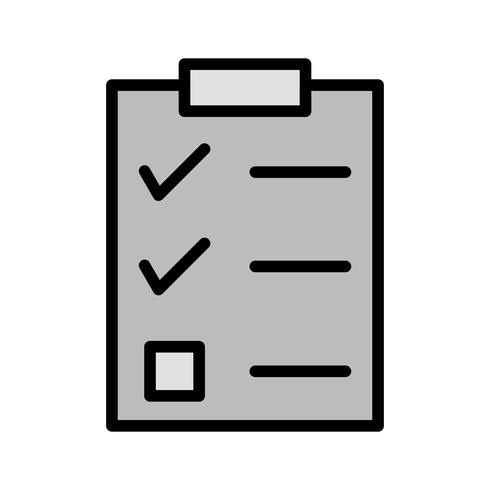 disegno dell'icona di lista di controllo