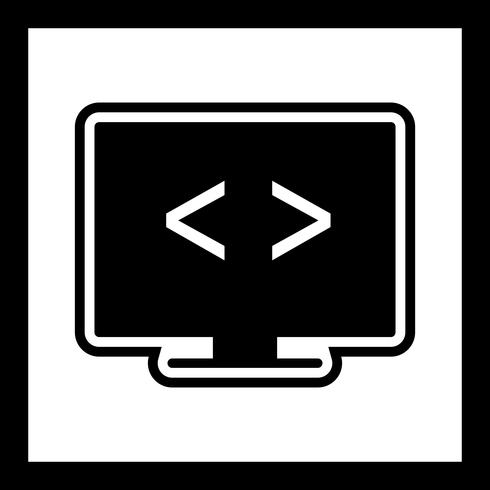 Codeoptimierung Icon Design vektor