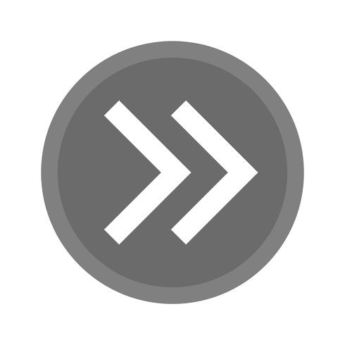 naar voren pijlen pictogram ontwerp