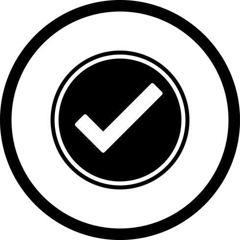 Gültiges Icon Design