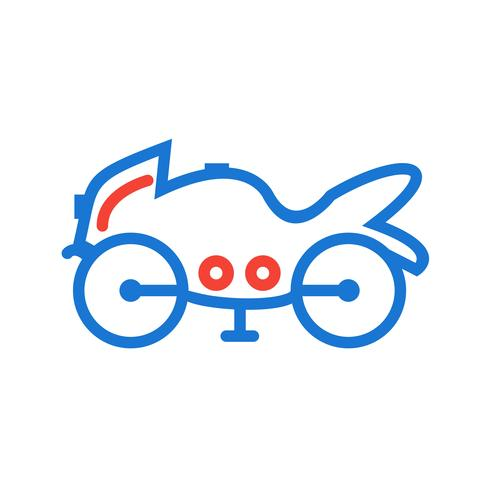 Design de ícone de bicicleta pesada