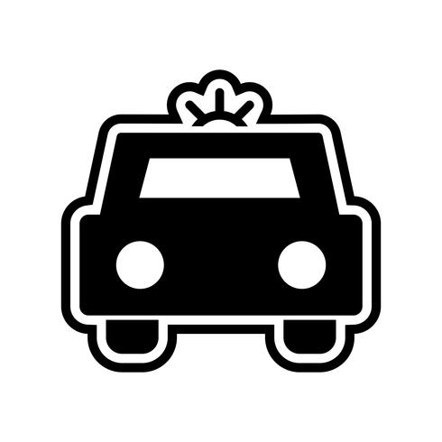 Disegno dell'icona della macchina della polizia